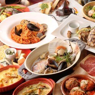 【7月限定】イタリアンをカジュアルに!3時間飲み放題付き『アモーレコース』3500円