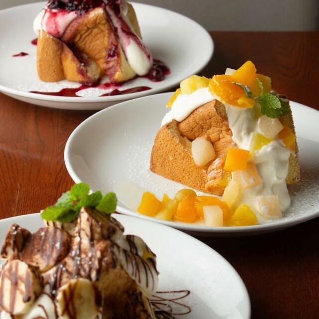 北海道産濃厚生クリームのシフォンケーキ