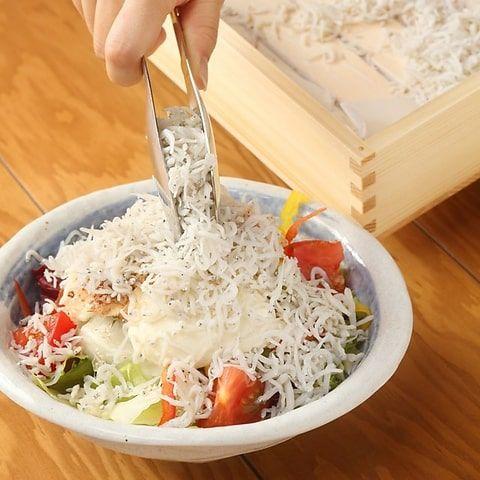 愛知県篠島産しらすガチ盛りサラダ