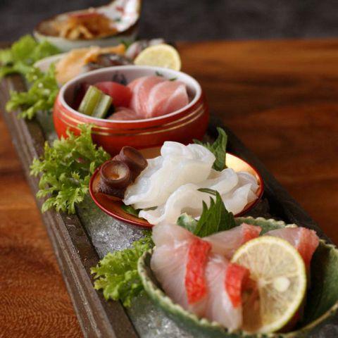 【期間限定】2時間飲み放題付鮮魚三種盛合わせ含む全9品『えどわん堪能コース』5000円