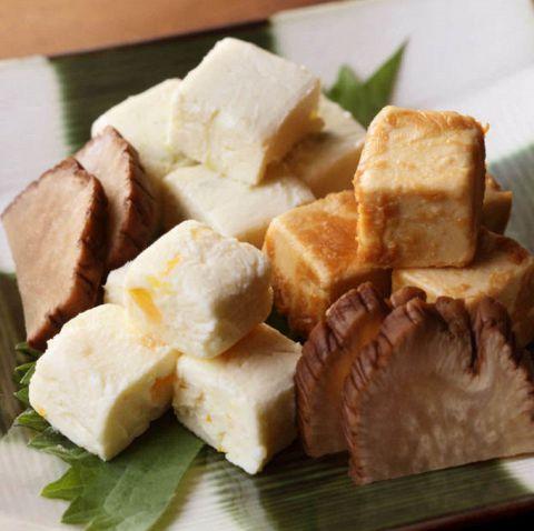 クリームチーズ三種盛り(柚子・胡桃・京味噌)