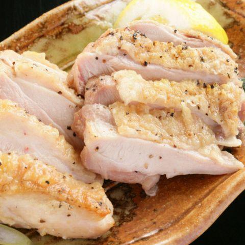 大山鶏もも肉の岩塩焼き