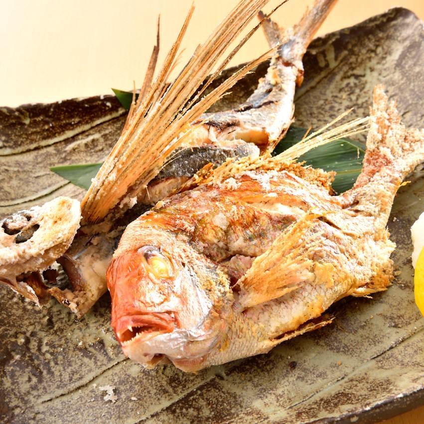 豊洲直送!本日の一本魚の塩焼き