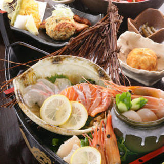 【5月限定】貝の旨味たっぷり『真鯛のしゃぶしゃぶ』が入った「大漁コース」全8品 料理のみ4500円