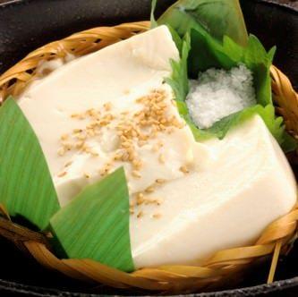 厳選豆乳の自家製ざる豆腐