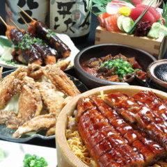 【9・10月限定】鰻ひつまぶしのほっこり名古屋めし銘々盛りコース全7品飲み放題付 4,500円