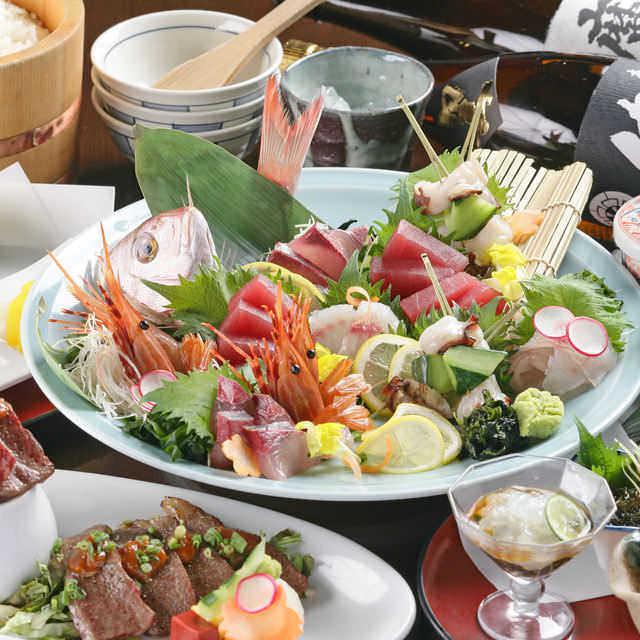 【9月限定】お席2.5時間/2時間飲み放題付鮮魚と天ぷら,土鍋炊き含む全9品『匠コース』5500円
