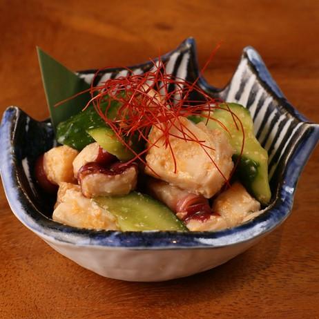 蛸と胡瓜のピリ辛醤油麹漬け