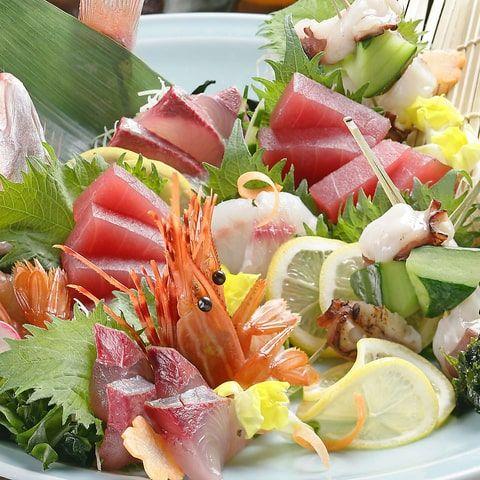 鮮魚のお造り 四名様盛り