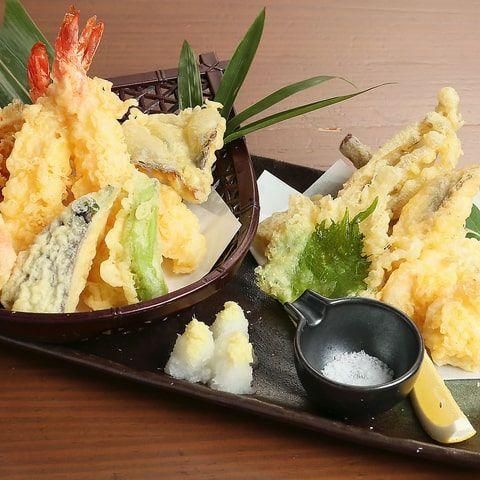 季節の天ぷら 二名様おまかせ盛り合わせ