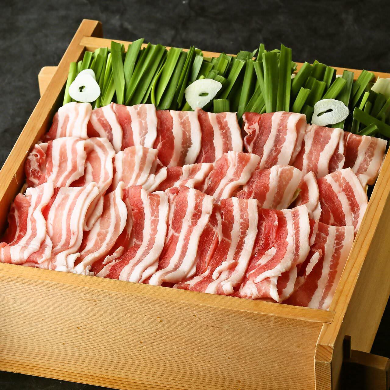 大分にら豚風 黒豚とお野菜たっぷりせいろ蒸し