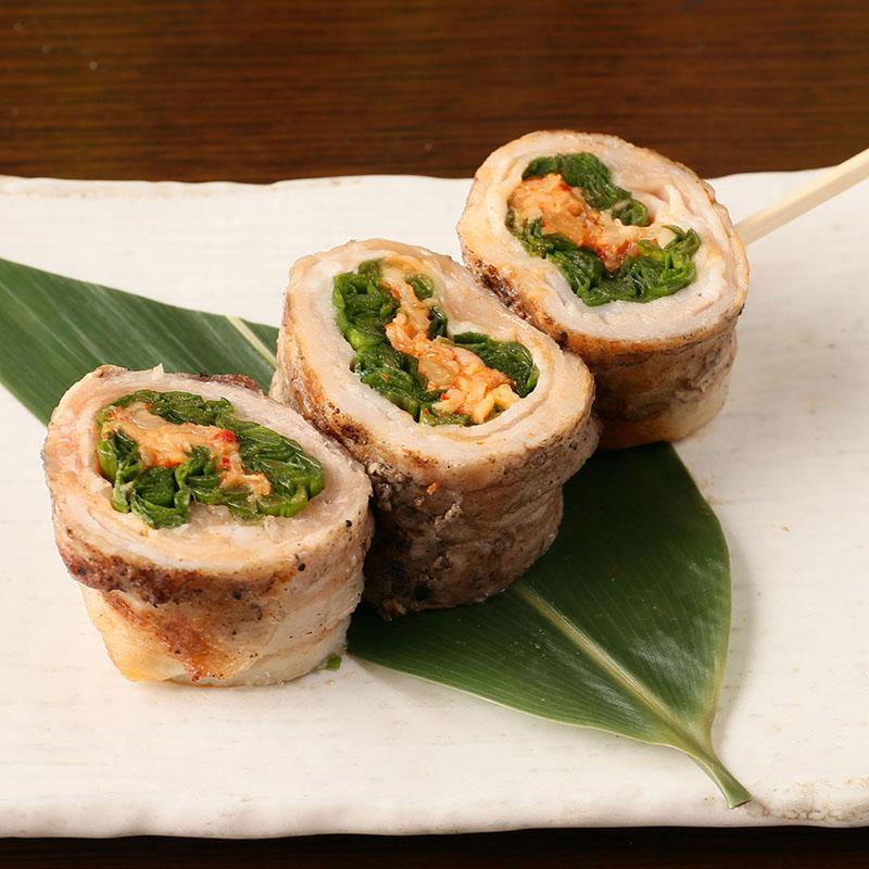 野菜巻き串 豚ニラキムチチーズ巻き