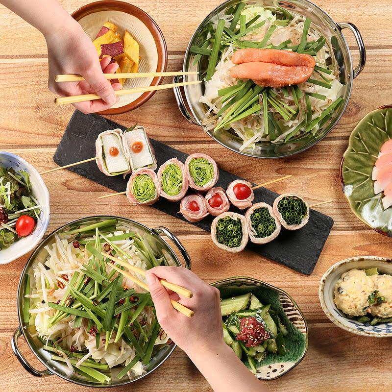 【贅沢!免疫力高まる選べる1人もつ鍋セット1ドリンク付き】 お食事を1人様づつお出し致します。