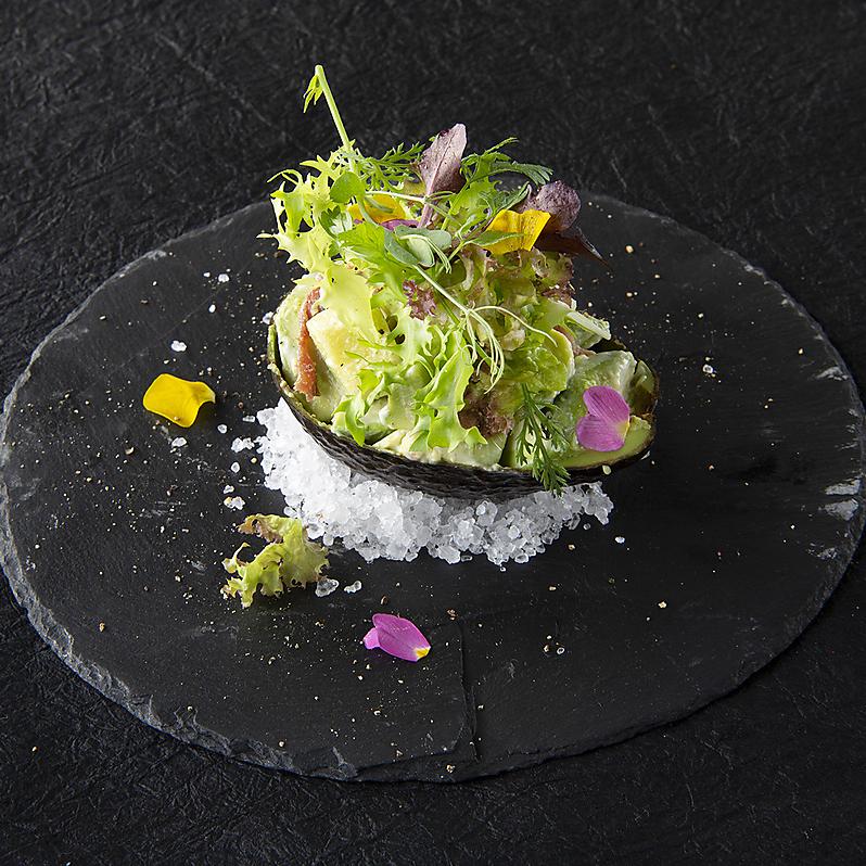 Avocado anchovy salad