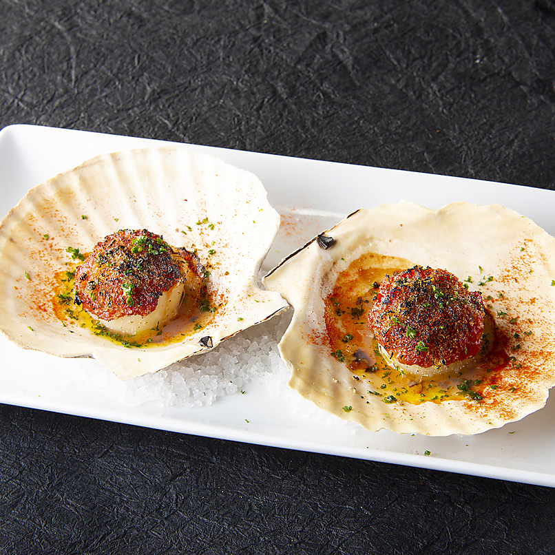 Gallician style scallop with shell