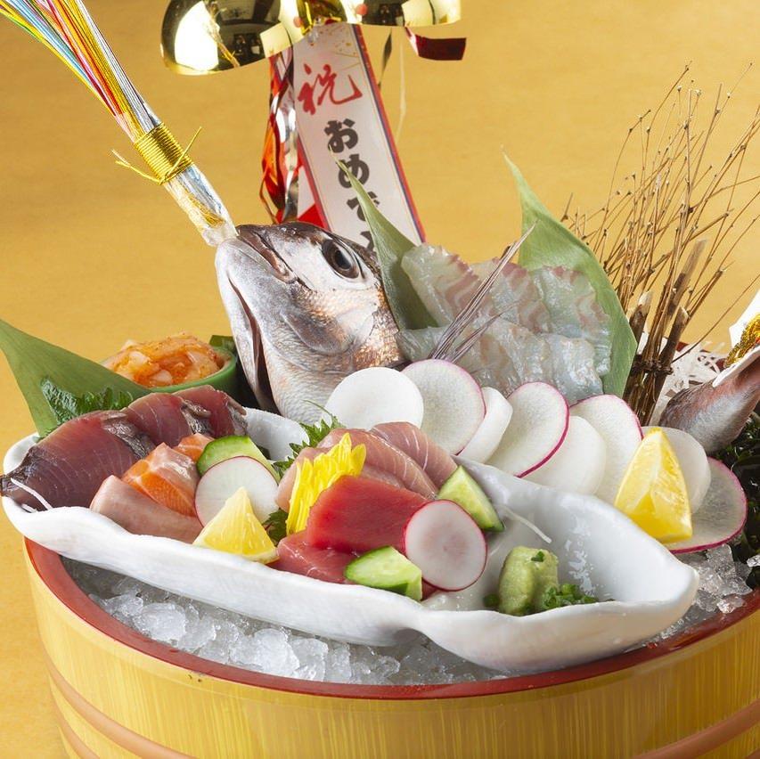 【8月・9月】全8品『めでたい家のお祝いコース』5000円 歓送迎会,宴会,誕生日,記念日,接待に◎