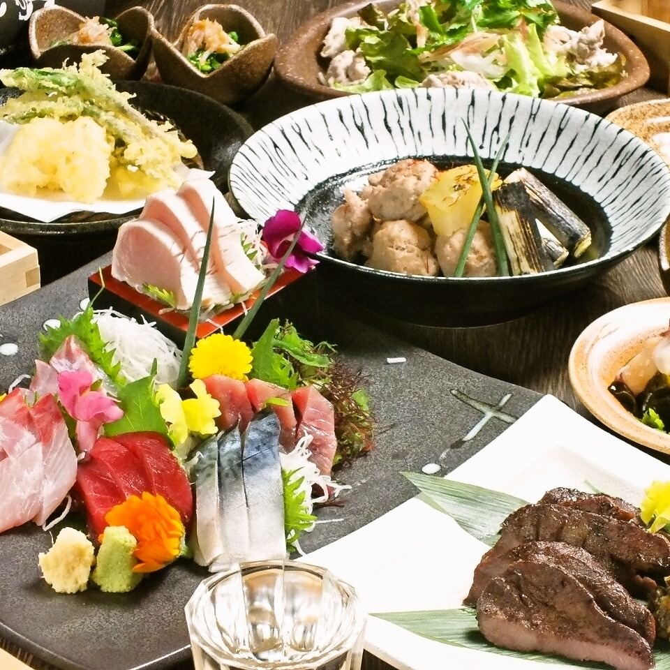 ◆5月◆厚切り鮮魚と森林鶏ゴロゴロ焼コース 120分飲み放題付 全8品 4000円【仙台 居酒屋 宴会 飲み会】