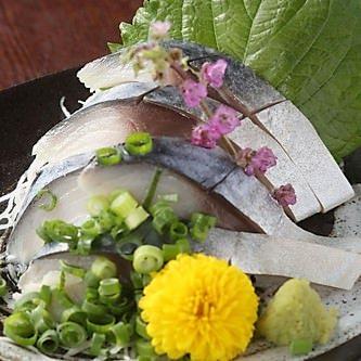 金華〆鯖刺し