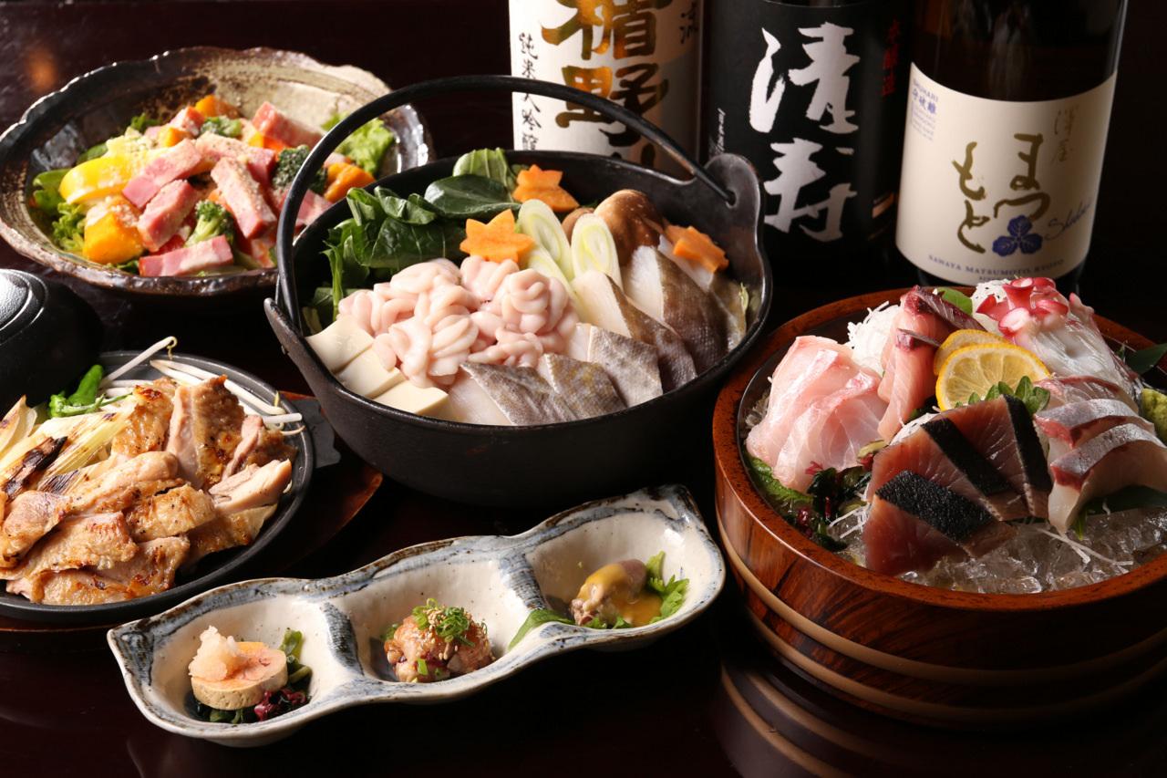 【12月限定】~GOTOEAT開催特別プラン~鱈の吟醸酒粕と白子のしゃぶしゃぶ発酵鍋 鮪のお刺身3種盛りコース
