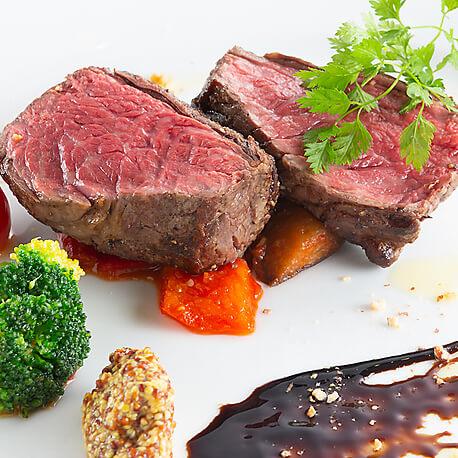 国産牛ランプ肉のグリルステーキ