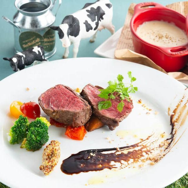 国産牛ランプのステーキ
