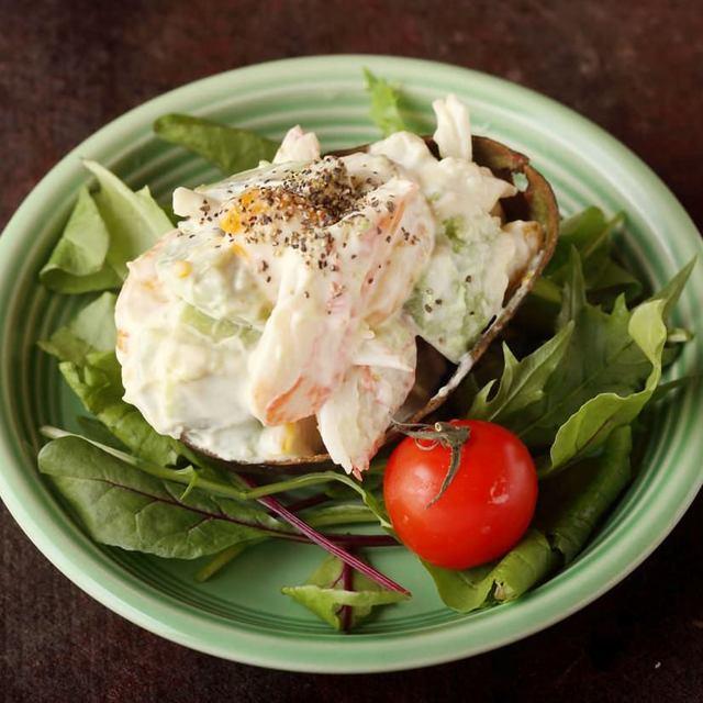 アボカドの北海蟹味噌マヨネーズ