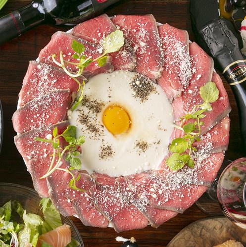 肉ボナーラ~ローストビーフ×カルボナーラソース~
