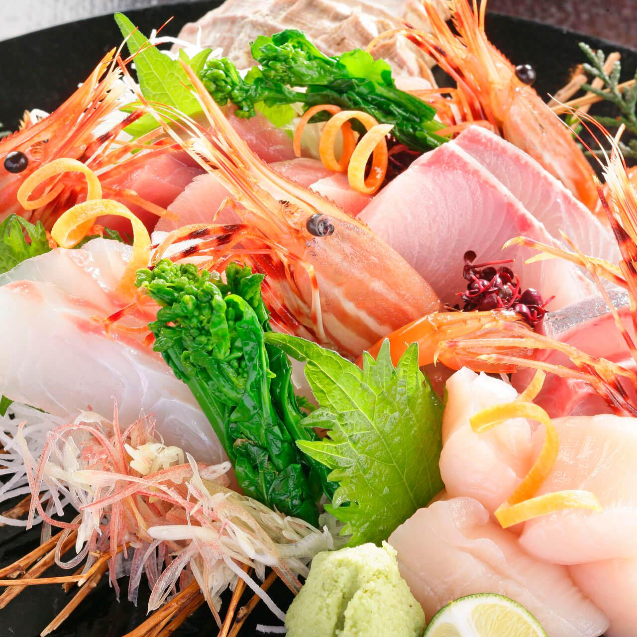 桶盛り鮮魚5種盛り合わせ
