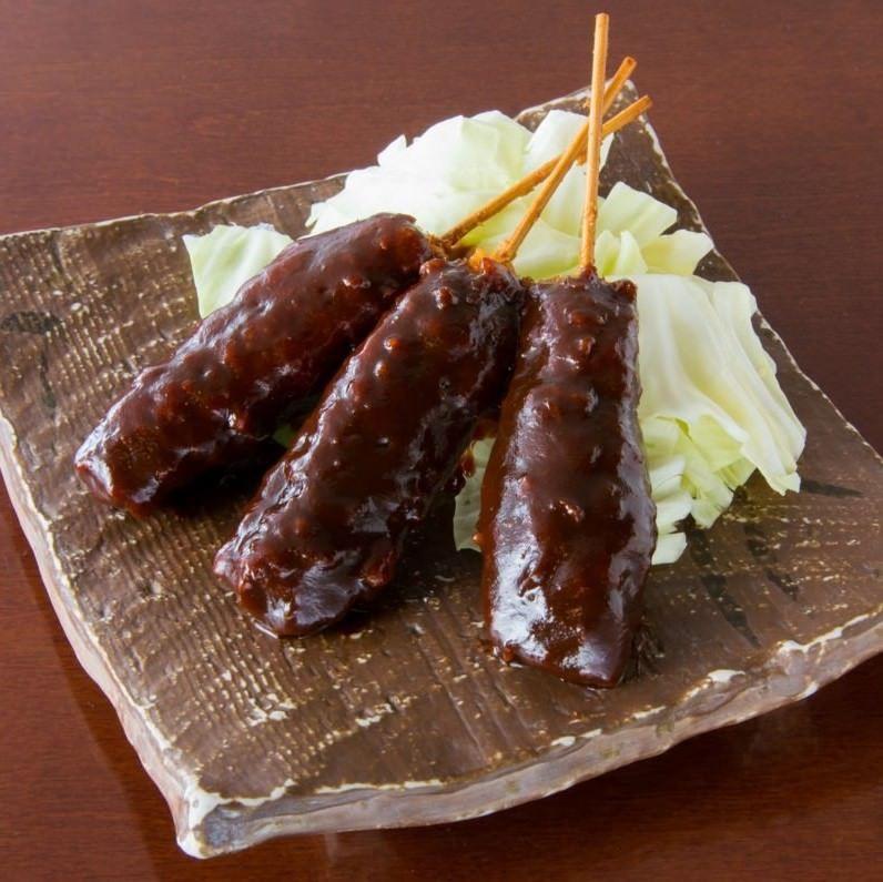 八丁味噌串カツ(3本)