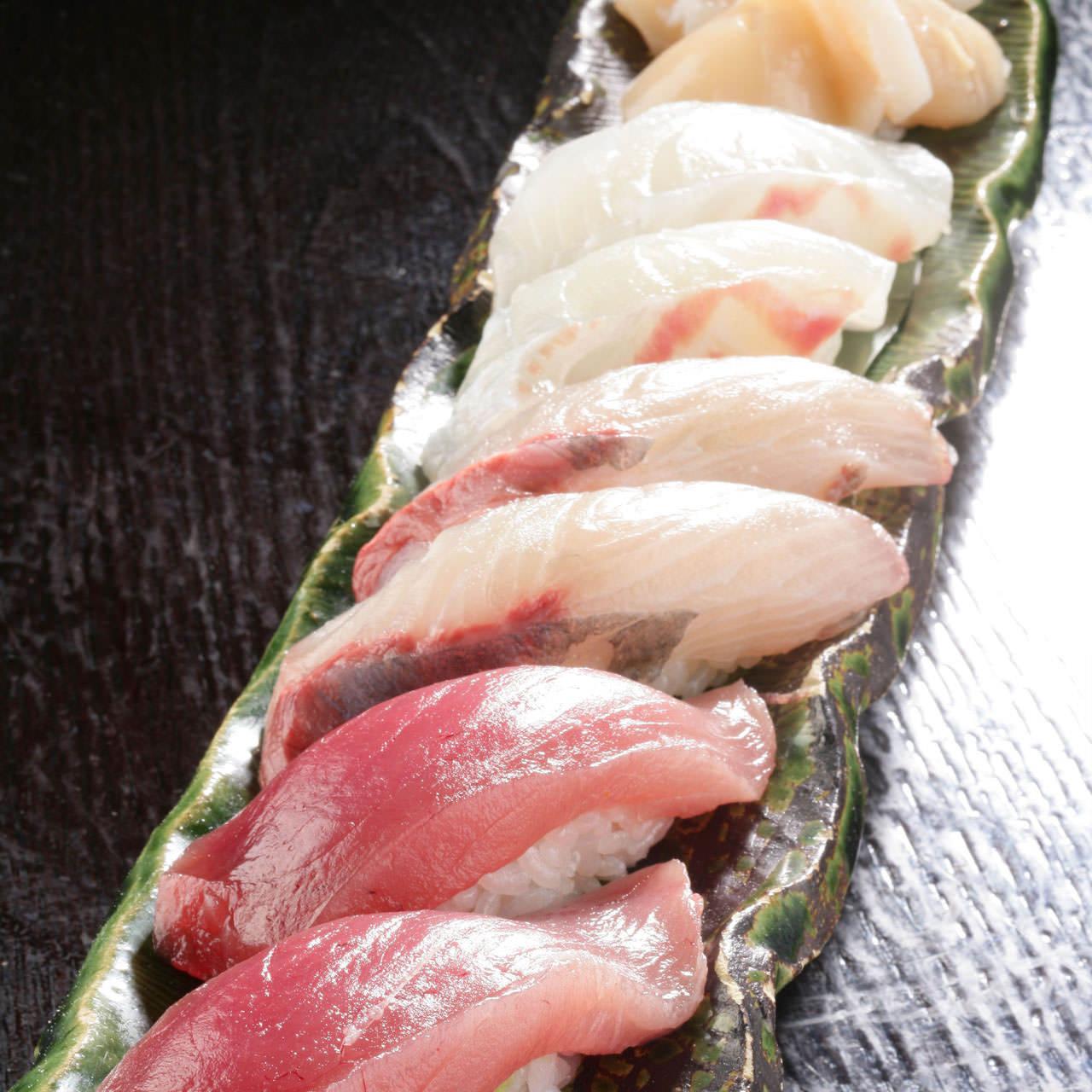 本日の握り寿司六貫