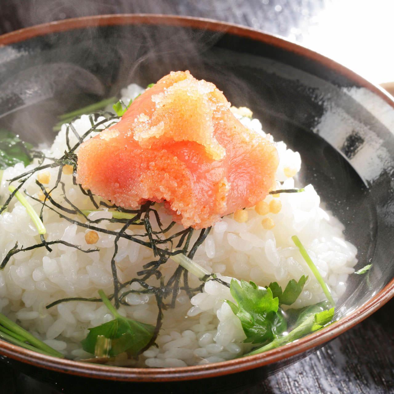 出汁茶漬け(梅、鮭、明太子)