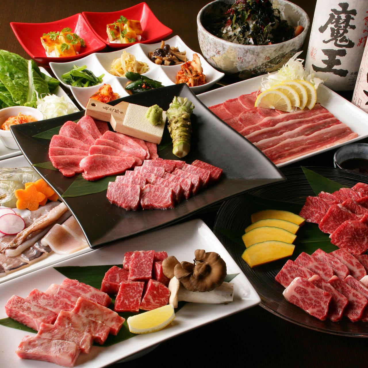 【ランチ限定】燦家 昼食会の特別コース 全9品3,500円