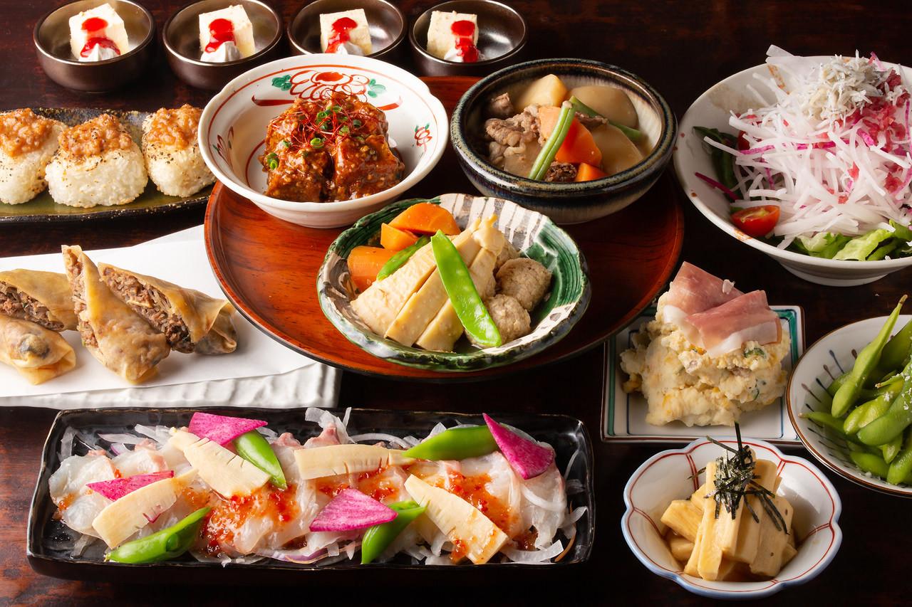 【7,8月】日本酒20種含む2時間飲み放題付チーズサンドハムカツ含む全7品『せきやの豪快肉盛りコース』4,000円 飲み会,合コンに◎