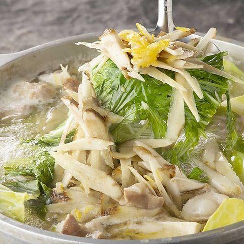 さっぱりゆず塩スープのもつ鍋
