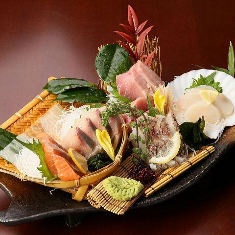 豪華!鮮魚の五種盛り合わせ