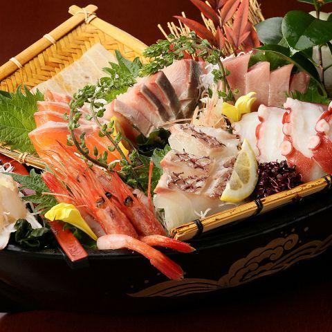 贅沢!鮮魚の七種盛り合わせ