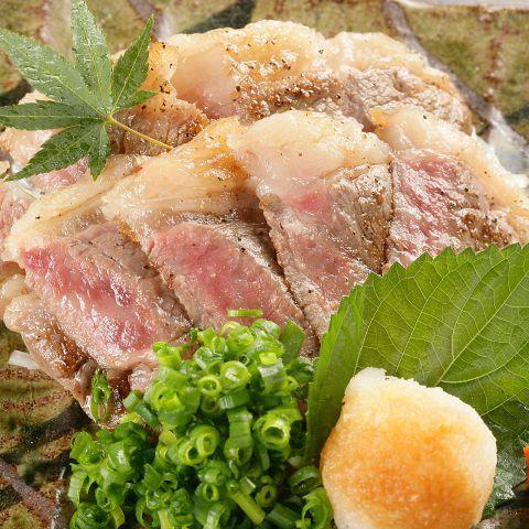国産牛サーロインの炭火焼きステーキ