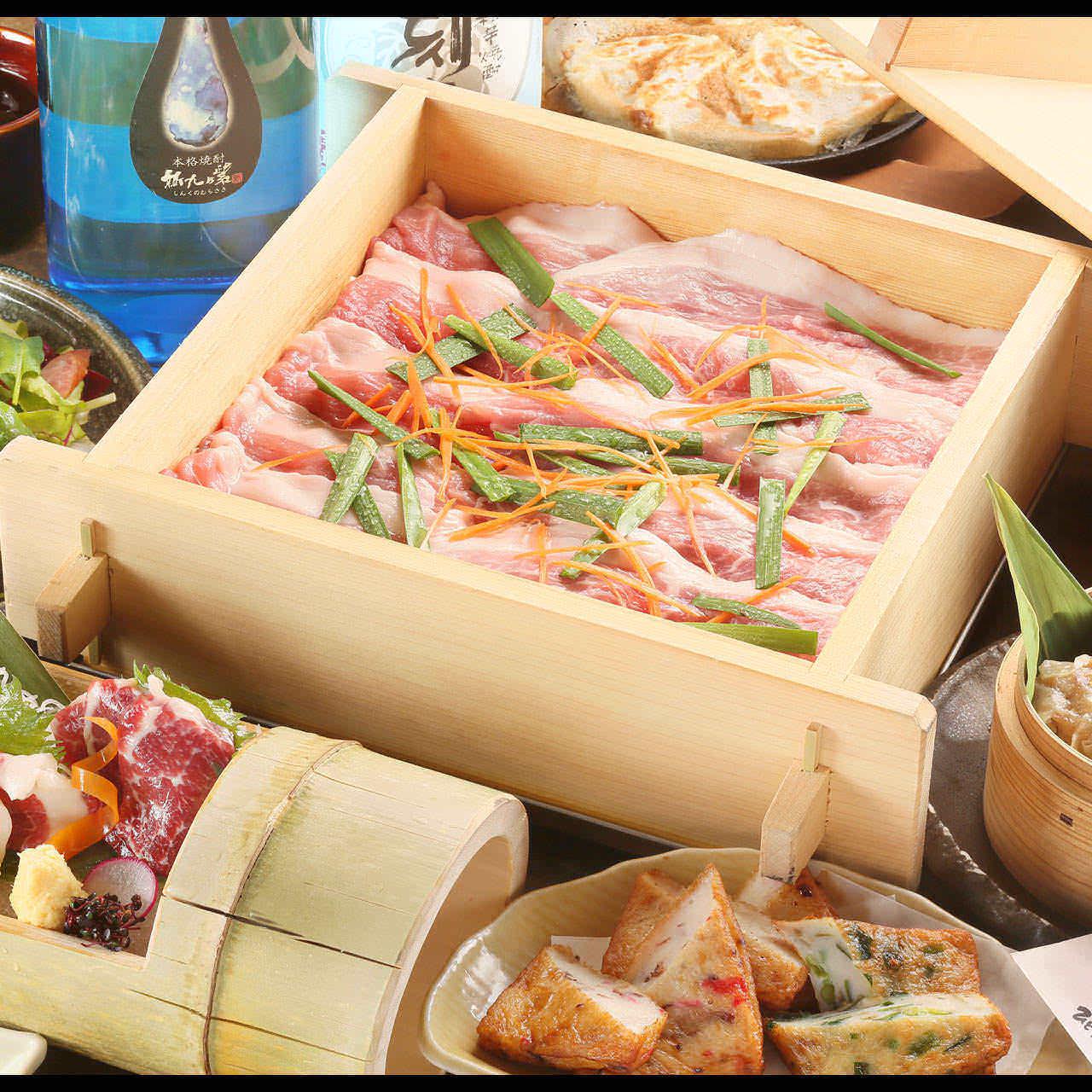 【7月】 夏の食材彩りコース 2時間飲み放題付 全7品4500円