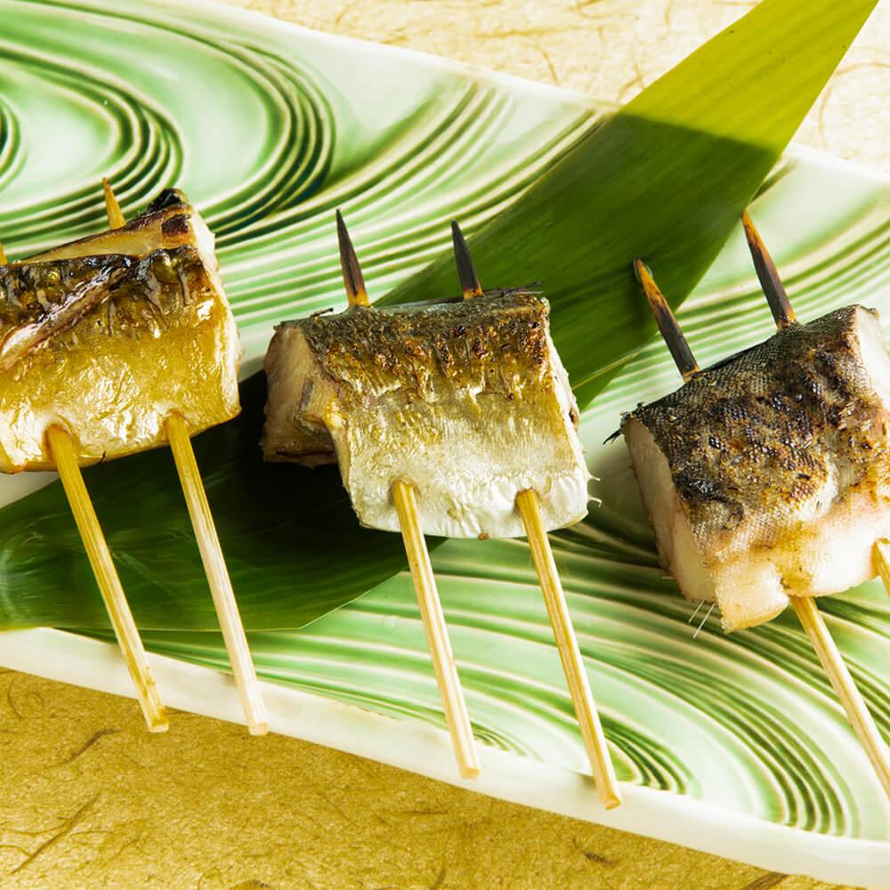 てしごと家 海鮮干物串 三種盛り合わせ