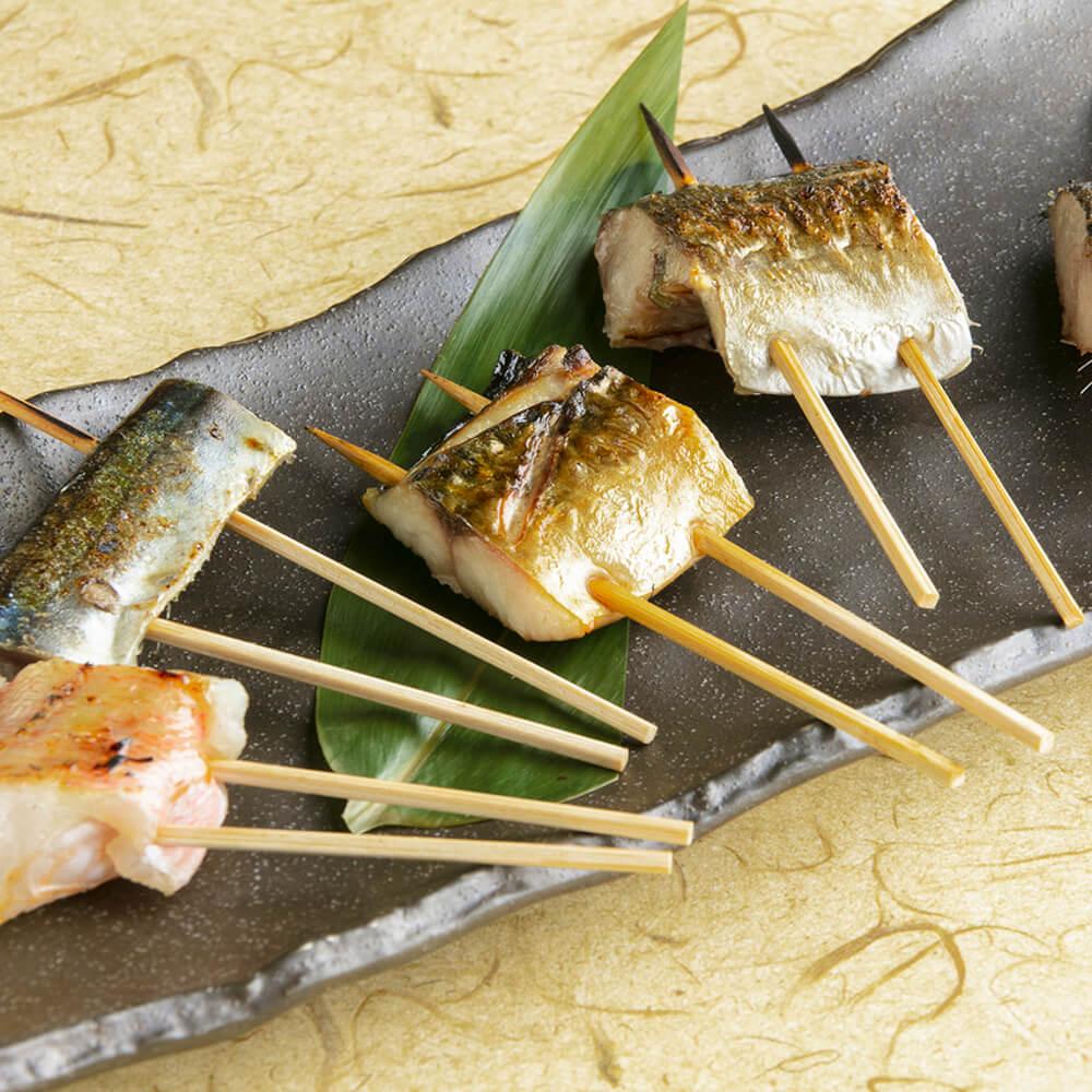 てしごと家 海鮮干物串 五種盛り合わせ
