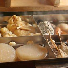 【6月】京風おでん鍋と豚と水菜のしゃぶしゃぶコース 全8品 飲み放題込み4000円(税込)